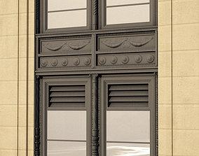 Neo-renaissance frame windows 3D model