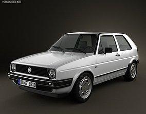 3D Volkswagen Golf Mk2 3-door 1983