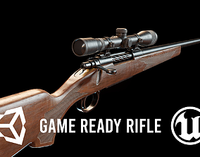 3D asset FPS Hunting Rifle