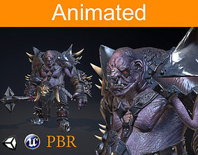 RPG Troll 3D asset animated