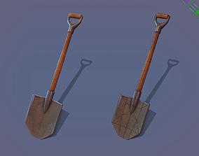 3D model Game ready Shovel