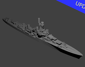 French La Galissonniere Class Cruiser 3D print model
