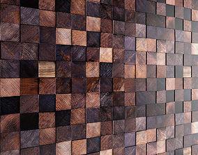 Mosaic wood panel 11 3D