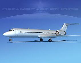 3D model Boeing 717-200 Bare Metal