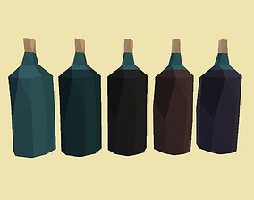 PACK 007 Empty Water and Juices bottles 3D model