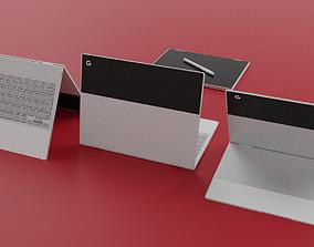 3D model Pixelbook Panda Black And White Skin Edition