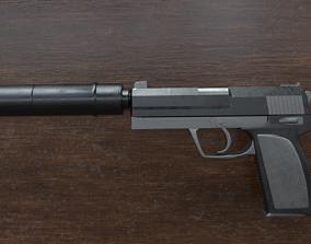 3D model Pistol HK USP Silencer