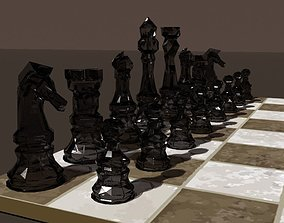 3D model VR / AR ready Low Poly Chess