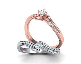 Paradise Engagement ring 3d model 116