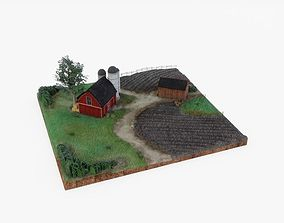 3D model Farm Landscape Miniature