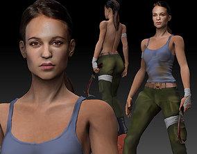 Tomb Raider 2018 3D Model Lara Croft Alicia Vikander 1