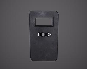 3D asset Police Shield