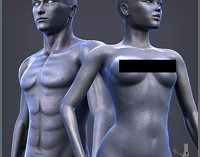 Adam And Eva Base Characters 3D asset