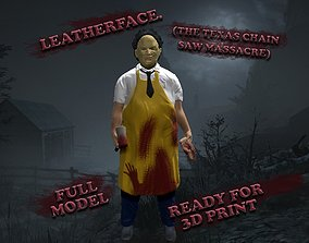 3D printable model sculptures Leatherface