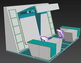 3D asset exhibition stand show interior