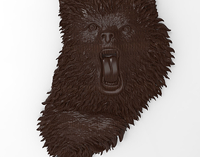 Angry bear bas relief for CNC 3D printable model