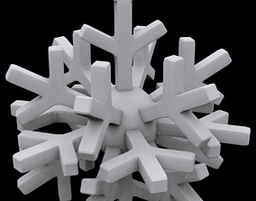 Snowflake globe 3D print model