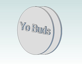 3D printable model Yo Buds the ear bud holder