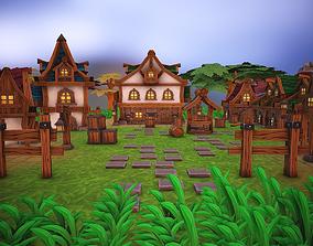 3D asset Fantasy modular house pack