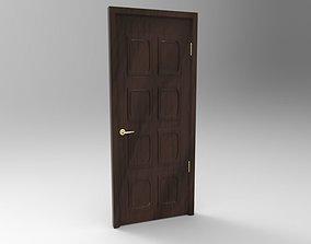 Door with Knob 3D asset