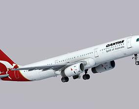 3D model Airbus A321-200 Qantas