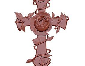 rose 3D print model Cross