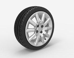 Wheel 4x100 R16 Opel Rim with Kormoran UHP Tire 3D