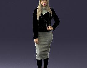 Fashion woman in grey skirt 0364 3D model