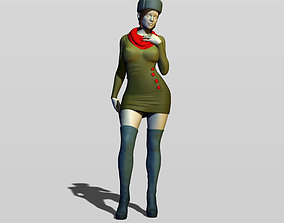 3D printable model Real soviet woman