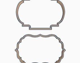 3D printable model Labels Cookie Cutter Set