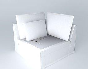 Angle sofa white ENZO houses the world 3D