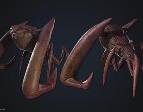 3D model low-poly Crustacean creature
