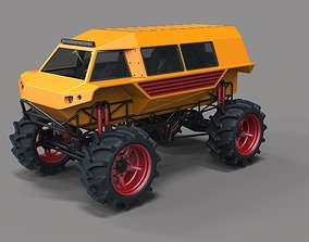 3D Fat mud truck