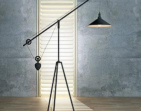 3D model Lamp Loft 4 light
