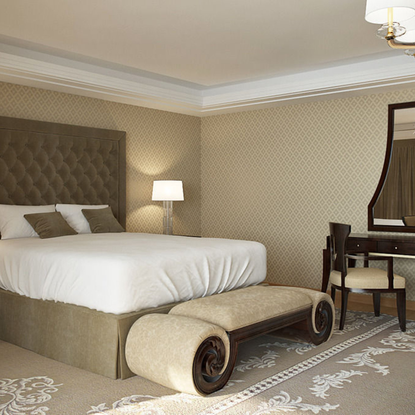Monaco Bedroom Cgtrader