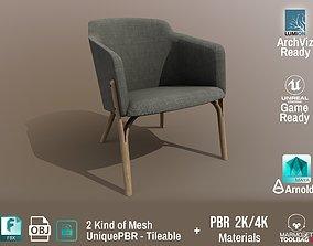 Ton Split Lounge ArmChair Design PBR - Lumion - 3D asset