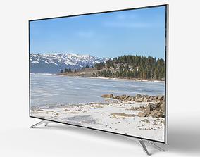 Low-poly TV 3D asset