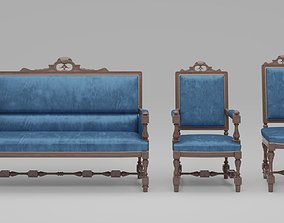 Carved Furniture Set 02 3D model