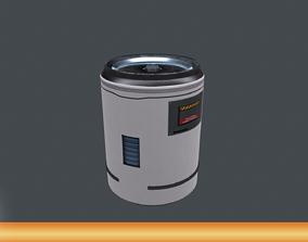 Barrel Sci-Fi PBR 3D asset
