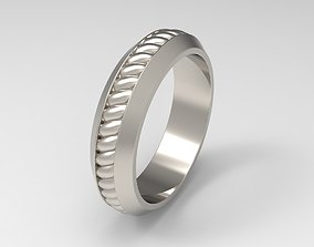 David Yurman Cable Inset Band Ring in 3D printable model 1