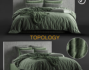 3D model Stone Willow Quilt Cover Set