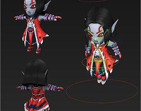 3D model Clash royale style animated blood Hunter fantasy