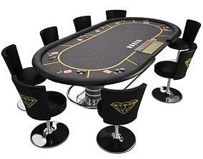 sports 3D Poker table