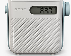 3D model Sony ICF-S80 splash proof shower radio