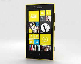 Nokia Lumia 720 Yellow 3D