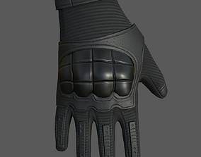 Gloves military combat soldier armor scifi 3D asset