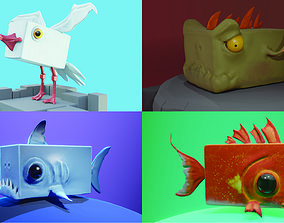 Stylized Creatures PACK 3D model