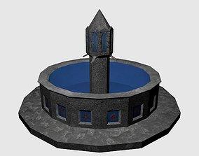 Round Fountain 3D asset