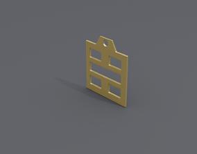 3D print model rgd kan trigram pendant mk3