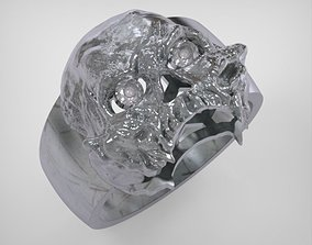 Skull Ring - art 0516 skull 3D print model